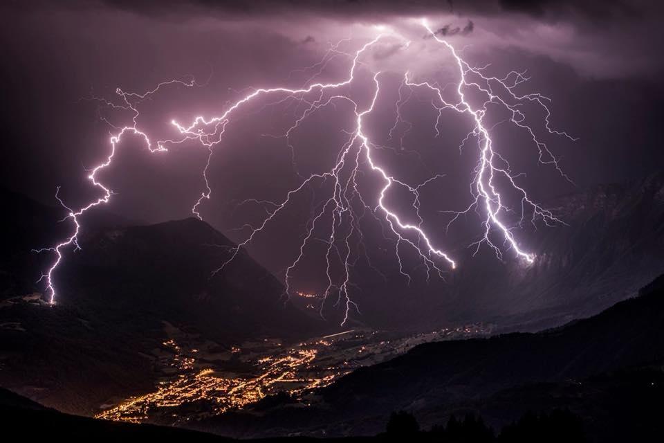 Villám, Francia Alpok